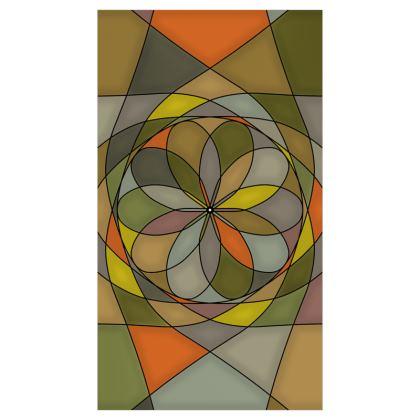 Roller Blinds (91cmx162cm) - Yellow spiral