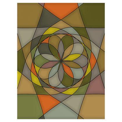 Roller Blinds (122cmx162cm) - Yellow spiral