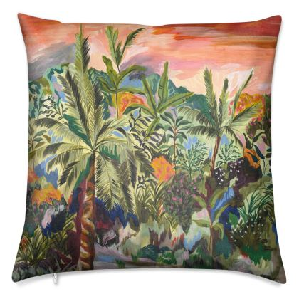Luxury Velvet Palm Tree Cushion