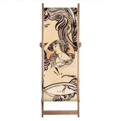 Deckchair Sling - Alphonse Maria Mucha Stained Glass #1