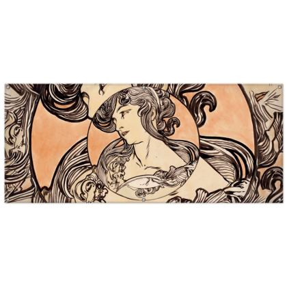 Outdoor Banners - Alphonse Maria Mucha Stained Glass #1