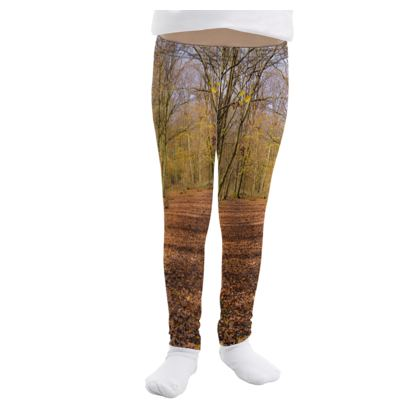 Girls Leggings - Open Clearing in Clapham Woods