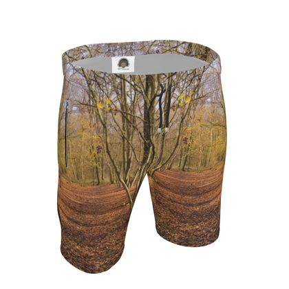 Mens Sweat Shorts - Open Clearing in Clapham Woods