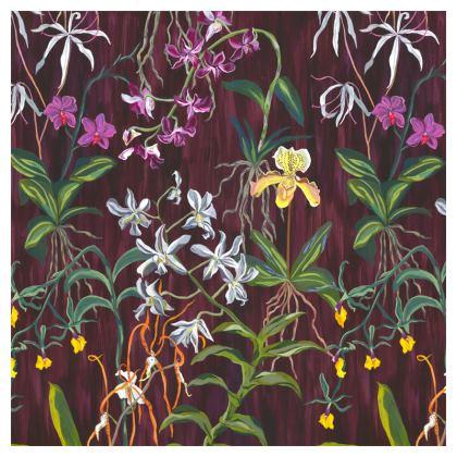 Luxury Velvet Orchid Cushion