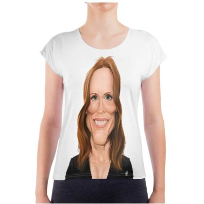 Julianne Moore Celebrity Caricature Ladies T Shirt