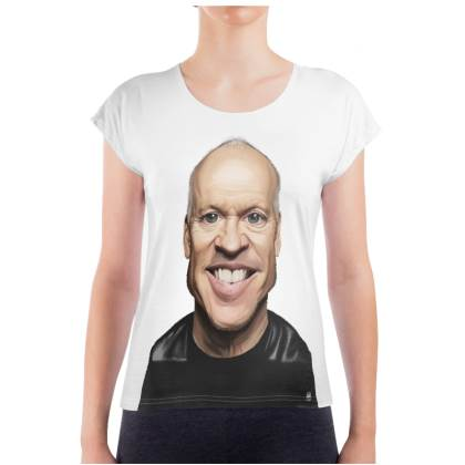 Micheal Keaton Celebrity Caricature Ladies T Shirt