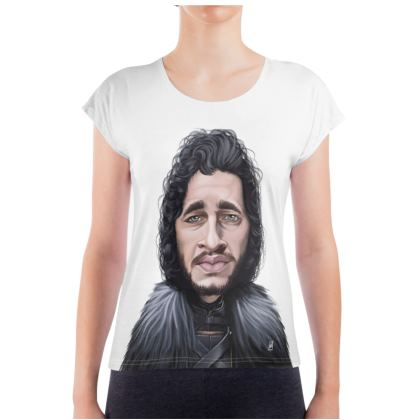Kit Harington Celebrity Caricature Ladies T Shirt