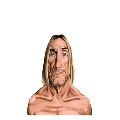 Iggy Pop Celebrity Caricature Ladies T Shirt