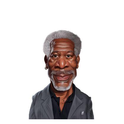 Morgan Freeman Celebrity Caricature Ladies T Shirt