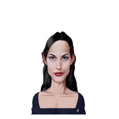 Liv Tyler Celebrity Caricature Ladies T Shirt