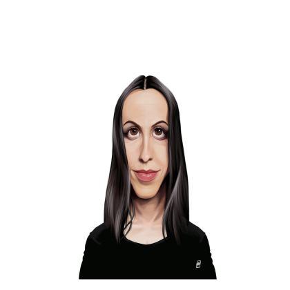 Alanis Morissette Celebrity Caricature Ladies T Shirt