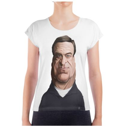 John Goodman Celebrity Caricature Ladies T Shirt