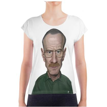 Bryan Cranston Celebrity Caricature Ladies T Shirt