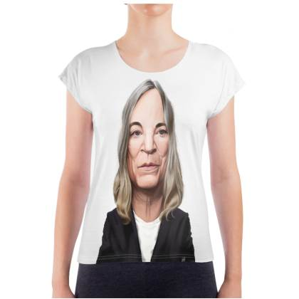 Patti Smith Celebrity Caricature Ladies T Shirt