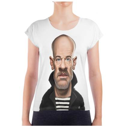 Michael Stipe Celebrity Caricature Ladies T Shirt
