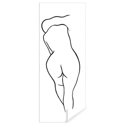 Gift Wrap - Fully Enhanced Reclining Nude Woman