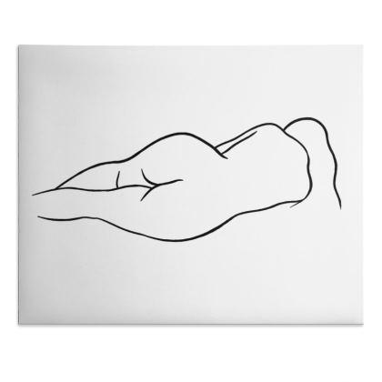 Desk Pad - Fully Enhanced Reclining Nude Woman