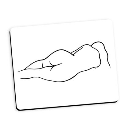 Mouse Mat - Fully Enhanced Reclining Nude Woman