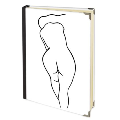Address Book - Fully Enhanced Reclining Nude Woman