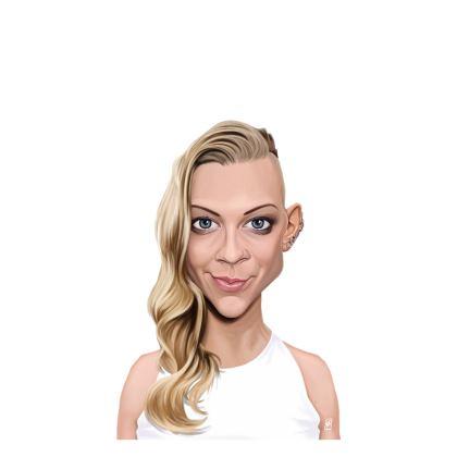 Natalie Dormer Celebrity Caricature Ladies T Shirt