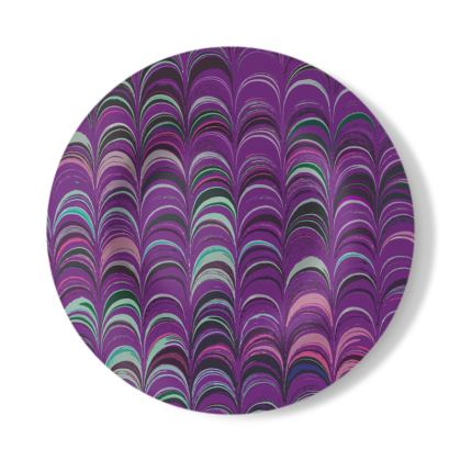 Decorative Plate - Around Ex Libris Pink Remix (1800 -1950)