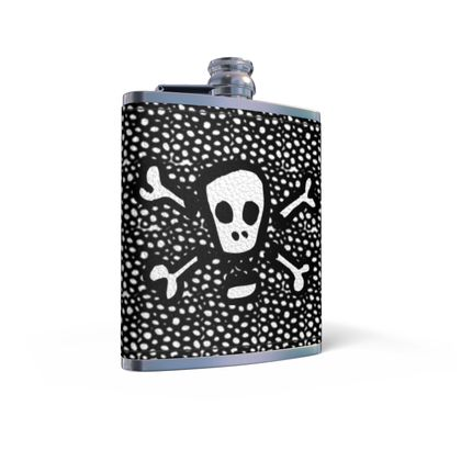 Toxic Leather Wrapped Hip Flask