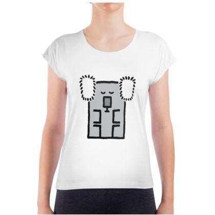 Cubes - Koala on Ladies T Shirt