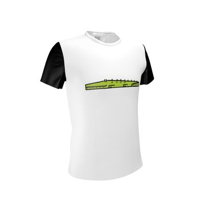 Cubes - Crocodile on Cut and Sew T Shirt