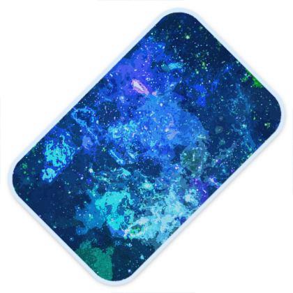 Baby Changing Mats - Blue Nebula Galaxy Abstract