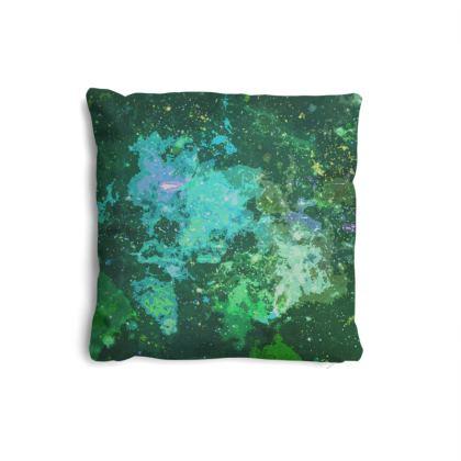 Pillows Set - Jade Nebula Galaxy Abstract