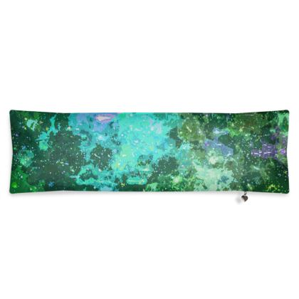 Bolster Cushion - Jade Nebula Galaxy Abstract