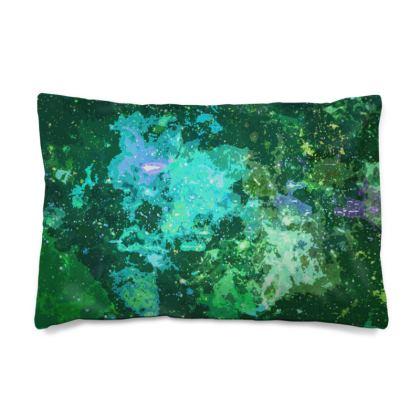 Pillow Case JAPAN - Jade Nebula Galaxy Abstract