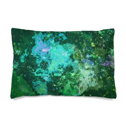 Pillow Cases Sizes - Jade Nebula Galaxy Abstract