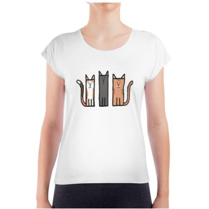 Cubes - Cats on Ladies T Shirt