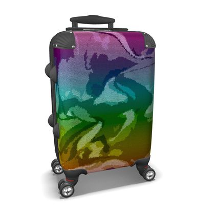 Suitcase - Honeycomb Marble Abstract 5