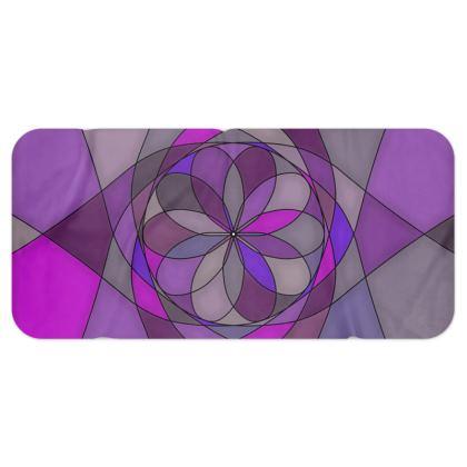 Blanket Scarf - Purple spiral