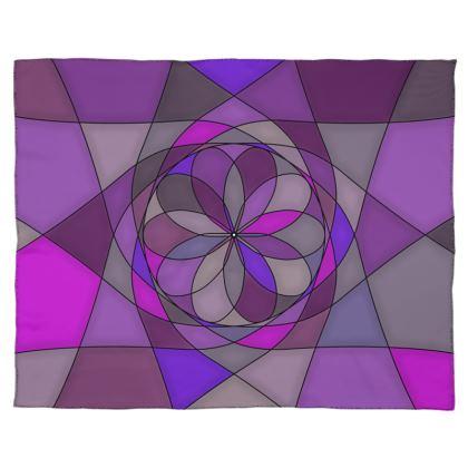 Scarf Wrap Or Shawl - Purple spiral
