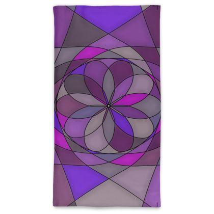 Neck Tube Scarf - Purple spiral