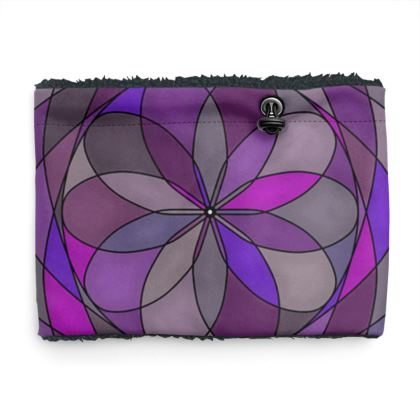 Sherpa Snood - Purple spiral