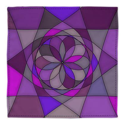 Bandana - Purple spiral