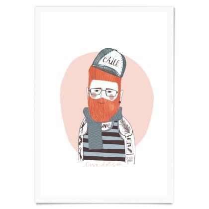 Art Print- Bearded Barber
