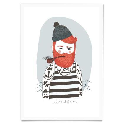 Art Print- Bearded Fisherman