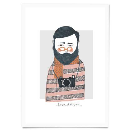 Art Print - Bearded Photographer