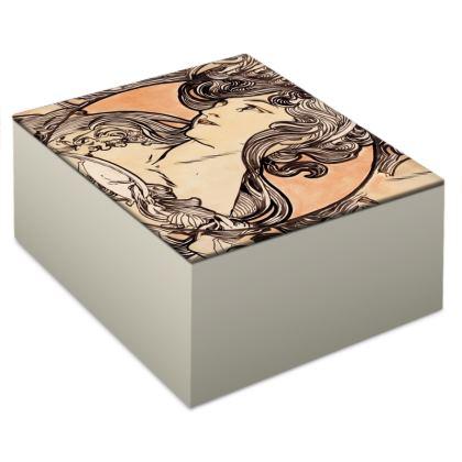 Jewellery Box - Alphonse Maria Mucha Stained Glass #1