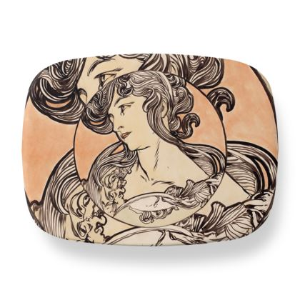 Lunch Box - Alphonse Maria Mucha Stained Glass #1