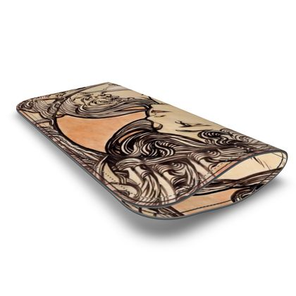 Leather Glasses Case - Alphonse Maria Mucha Stained Glass #1