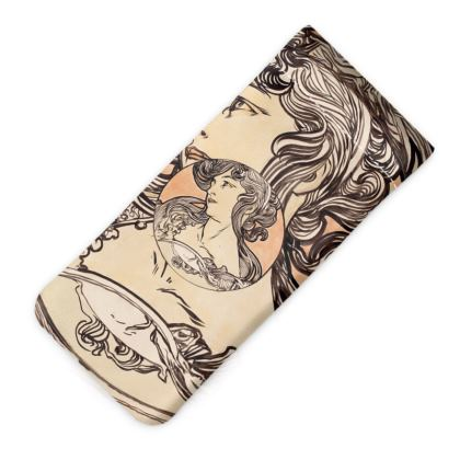 Glasses Case Pouch - Alphonse Maria Mucha Stained Glass #1
