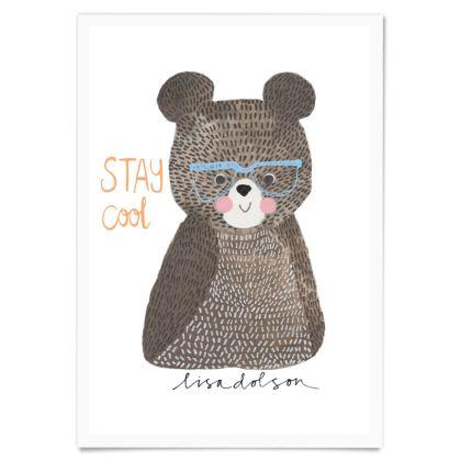 Art Print Stay Cool Bear