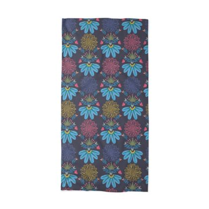 Blue Floral Craft tube scarf