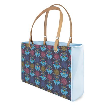 Blue Floral Craft  Handbag